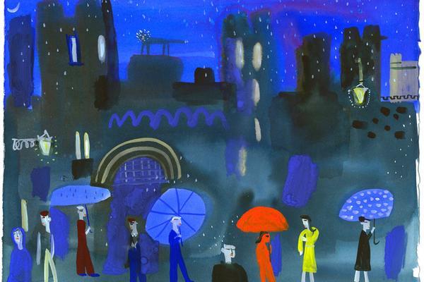 Christopher Corr: Arundel Castle in the rain