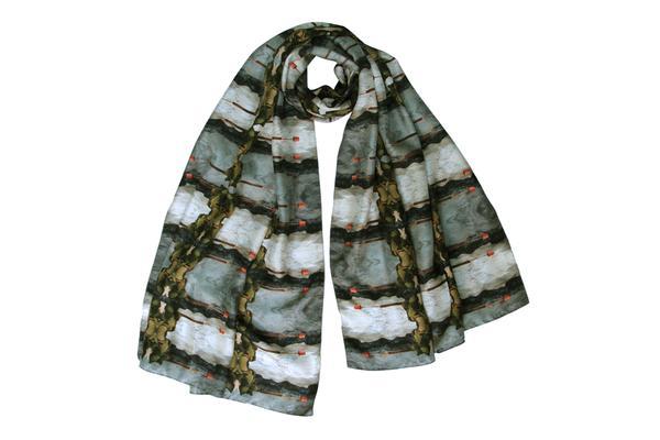 Emma Burton stone lamp large scarf