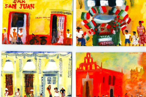 West Dean College Mexican Week Mexico card  by Chris Corr