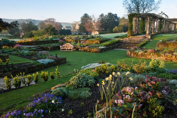The Sunken Garden at West Dean Gardens West Sussex