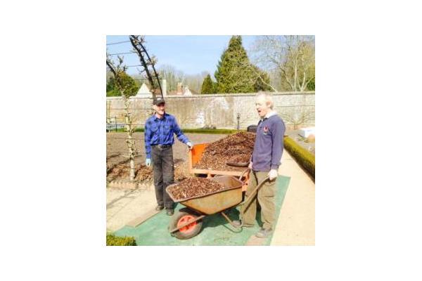 Volunteer gardners helping at West Dean Gardens