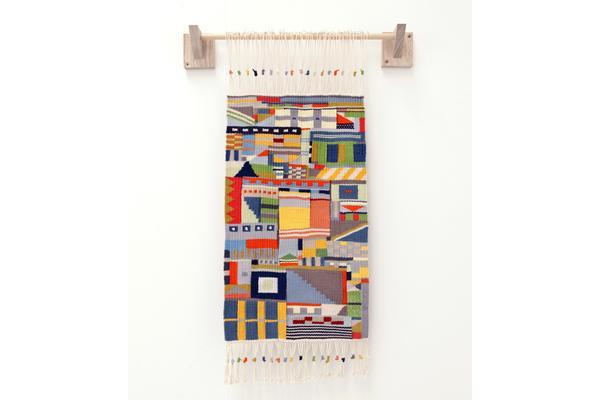Katie Schwab Wall Hanging (2015) Wool, dowel, American white ash
