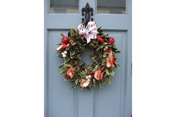 Sue Hingston Christmas wreath course