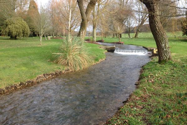 River Lavant in West Dean Gardens in January