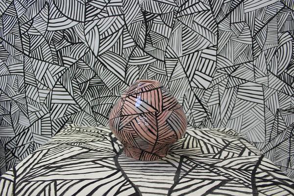 Agata Bogacka (MFA) Hide and Seek 2018, ceramics, canvas, acrylic paint