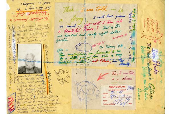 Ivan Hicks envelope to Edward James, 1981 © Ivan Hicks. Image courtesy of West Dean College, part of the Edward James Foundation.
