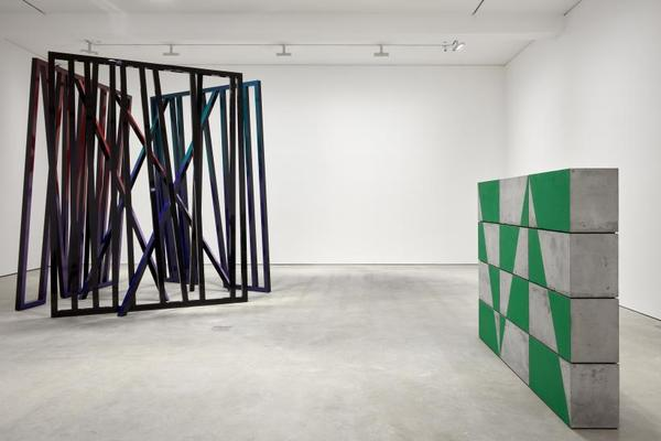 Eva Rothschild, Iceberg Hits, exhibition view, Modern Art, Vyner Street, London, 22 March - 5 May 2018. Photography by Robert Glowacki, copyright the artist, courtesy Stuart Shave/ Modern Art, London