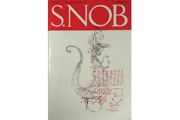 Cover of S.NOB, October 1962.  © all rights reserved. West Dean College, part of The Edward James Foundation.