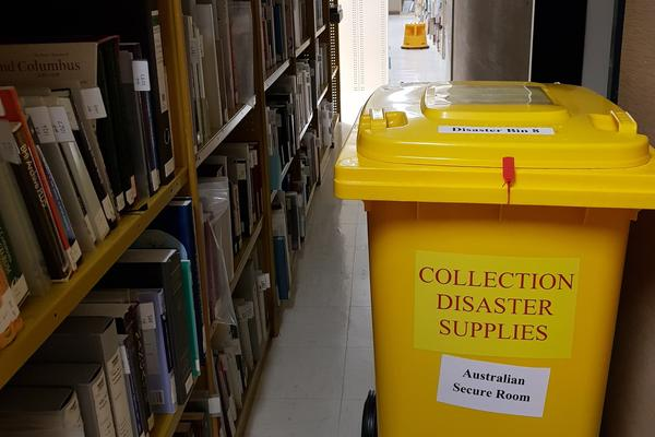 A disaster bin at the National Library of Australia