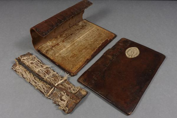 Figure 1: 16th C wooden board binding