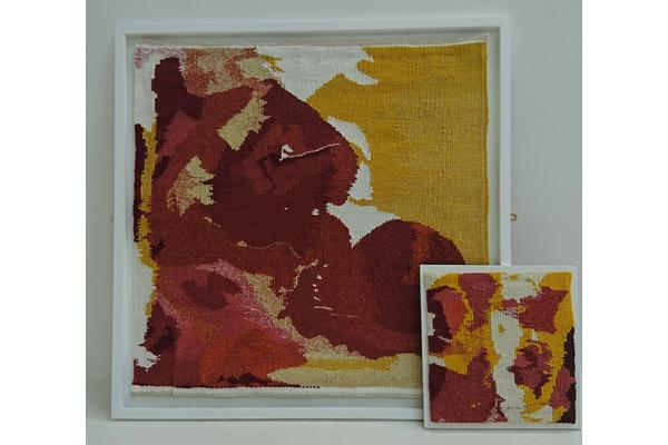 Emma Straw Marbled Tapestry