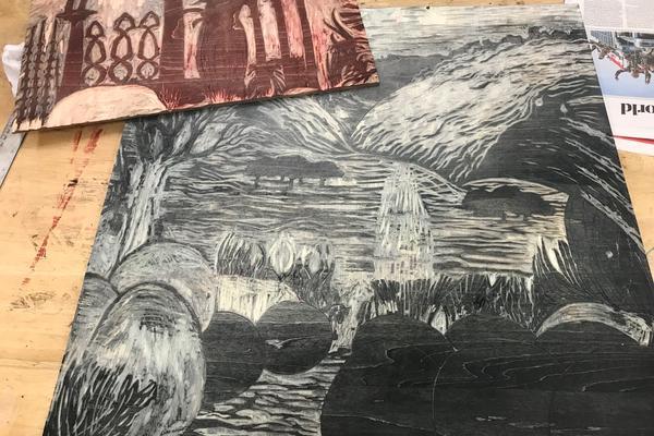 Sarah Johns, woodcut blocks