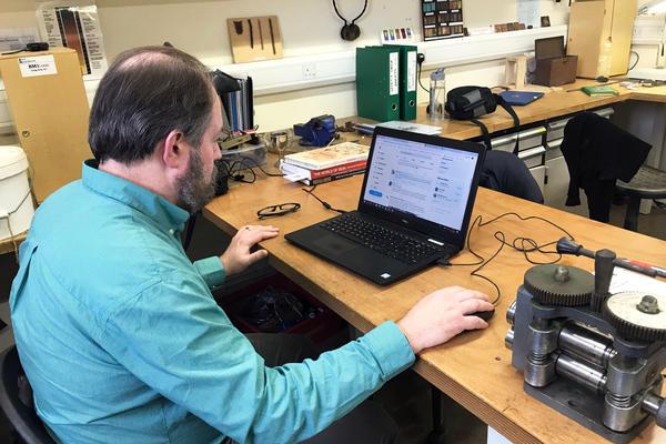 Eric in the Metals workshop
