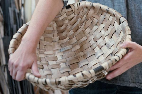 Lorna Singleton with Spelk Basket