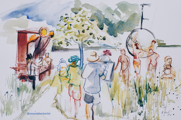 Watercolour Reportage The Drawing Circus