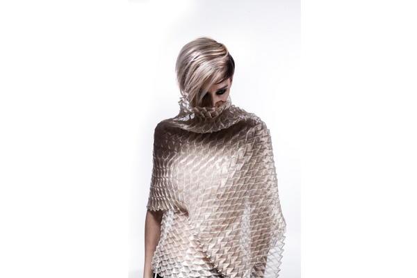 Silk Metallic Scarf