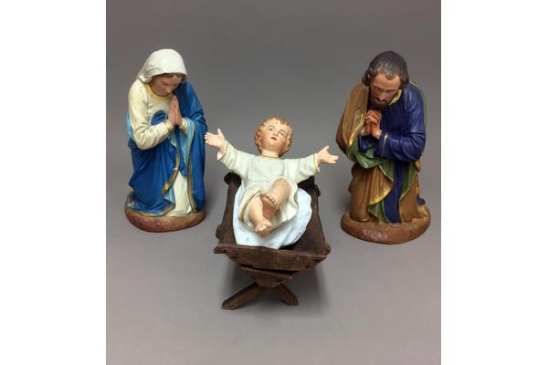 The restored Nativity figures Mary, Joseph and Baby Jesus. Photo credit: Andriani Maimaridou
