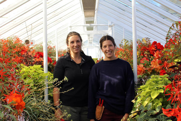West Dean Gardens' Trainee Horticulturalists Chantal and Laura