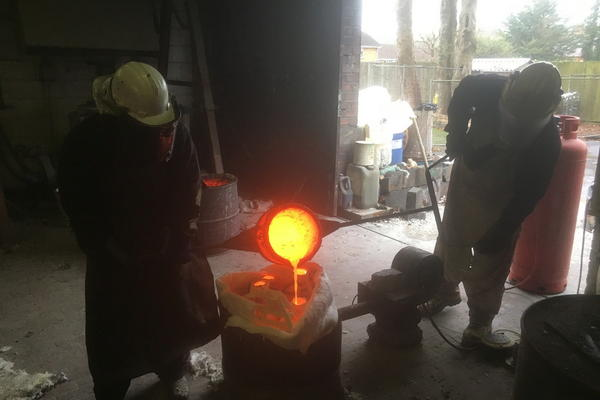Shane Whitehead, Bronze casting including wax sculpting 1