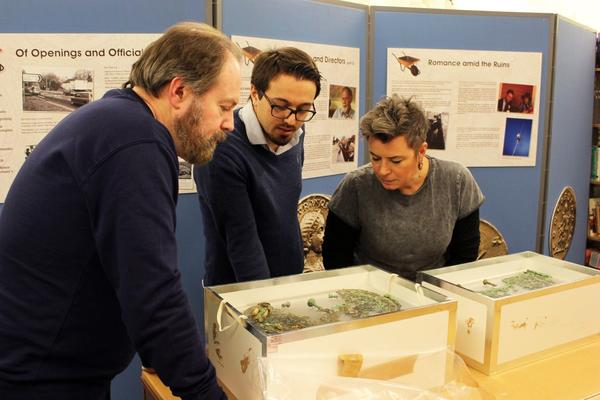 Metals students and Dr Eric Nordgren visited Fishbourne Roman Palace