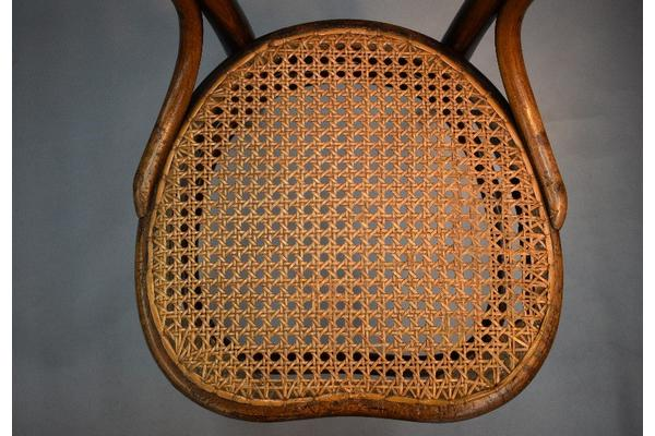 Figure 4: the cane seat was fixed with reclaimed cane woven through