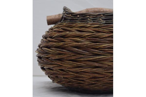 Herringbone weave basket - close up