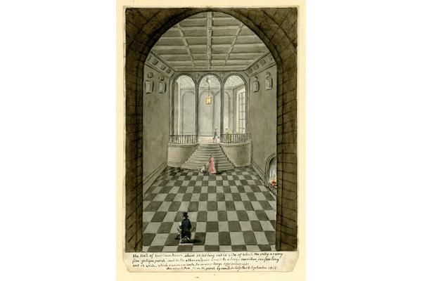 1 – Comte de Cely, Interior of West Dean House, 1812. Watercolour on paper.