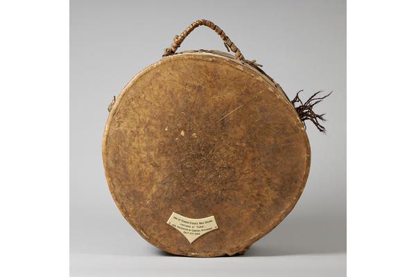 1. Osman Digna's War Drum. c.1880s. Front view.