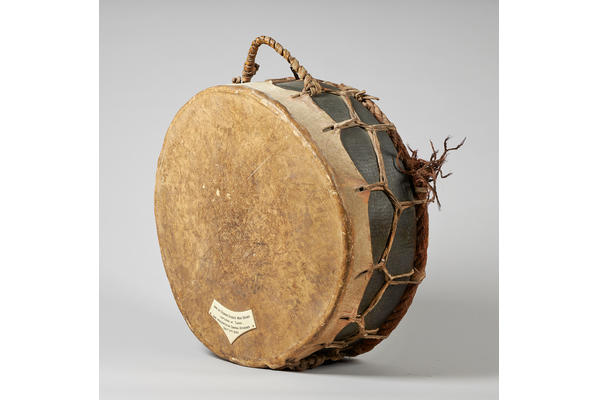 2. Osman Digna's War Drum. c.1880s. Side view.