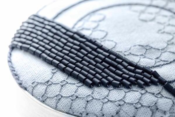 Stitch brooch, by Beatrice Mayfield.