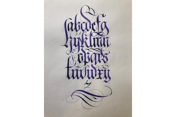 Paul Antonio - Calligraphy flourishing skills and techniques