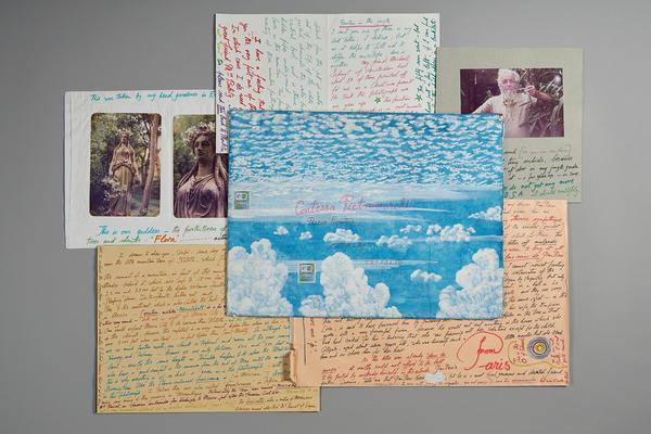 Personal letters by Edward James. Photo: Barney Hindle