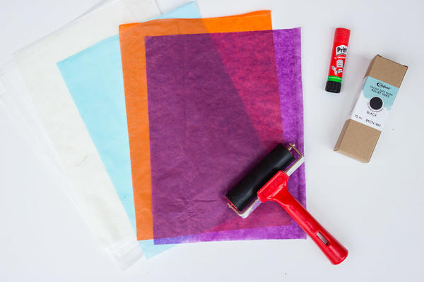 Craft box contents - Relief printing at home
