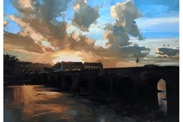 Barnstaple Long Bridge, by Hester Berry