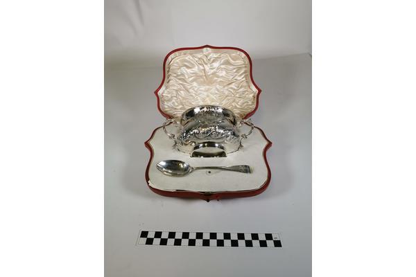 Edward James' silver porringer.
