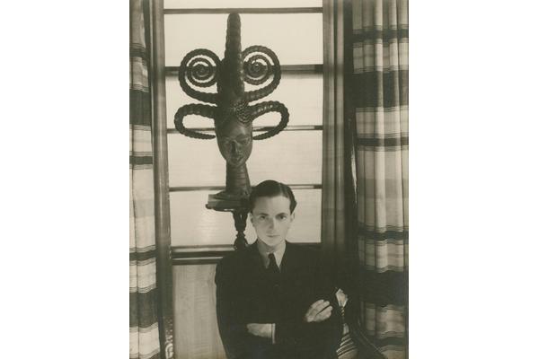 Cecil Beaton Edward James with Ekoi headdress c.early 1930s