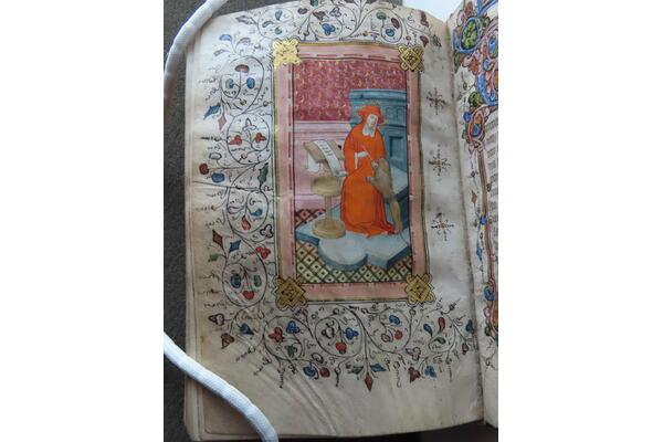 Book of Hours. What's a beaver doing in a scriptorium?