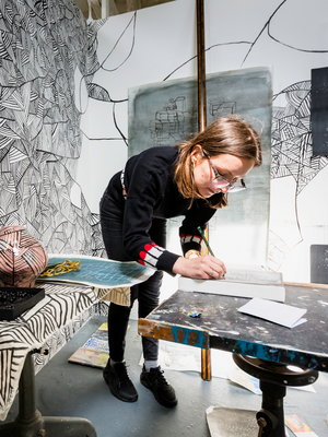 School of Arts student Agata Bogacka at West Dean College of Arts and Conservation