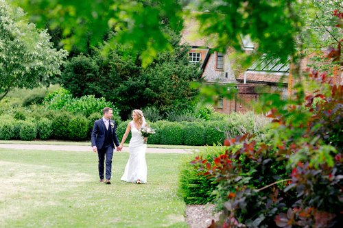 Wedding receptions at West Dean Gardens. Credit Helen Cawte Photography