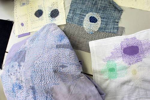 Textiles course with Celia Pym at West Dean College of Arts and Conservation