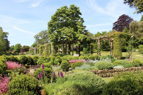 Edwardian Pergola in late spring at West Dean Gardens