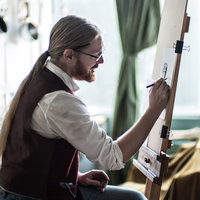 Jake Spicer, painter and co-director of Drawing Circus