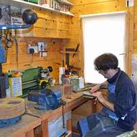John Grayson - Maker in workshop