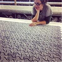 Sarah Burns in the factory