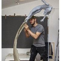 Ian Edwards, working in the studio