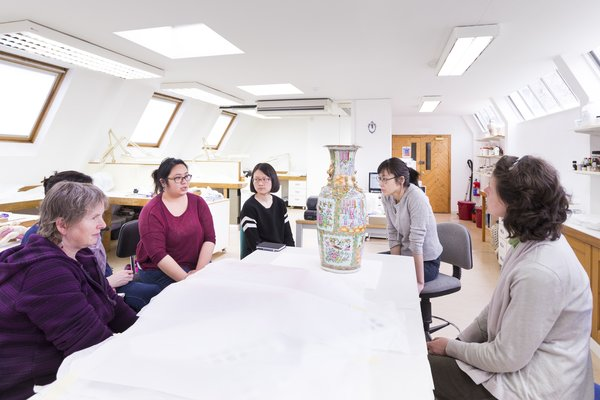 Students in ceramics workshop at West Dean College of Arts and Conservation