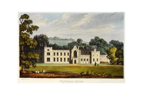 Drawing of West Dean House in West Sussex