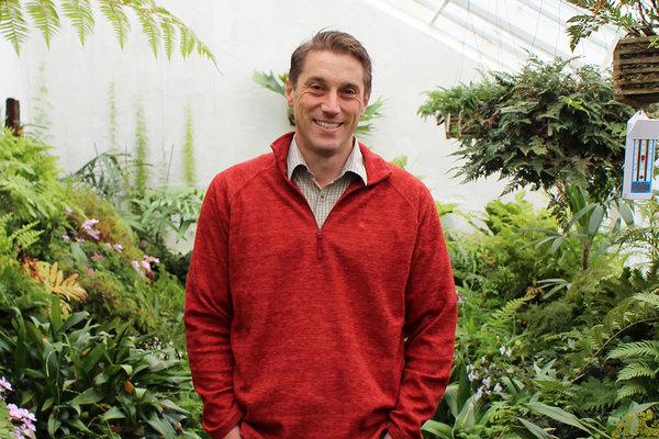 Head Gardener Tom Brown in the fernhouse at West Dean Gardens