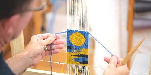 Tapestry weaving at West Dean College