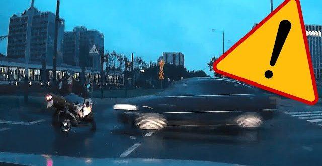 Wypadek z udziałem motocyklisty  – [Video]